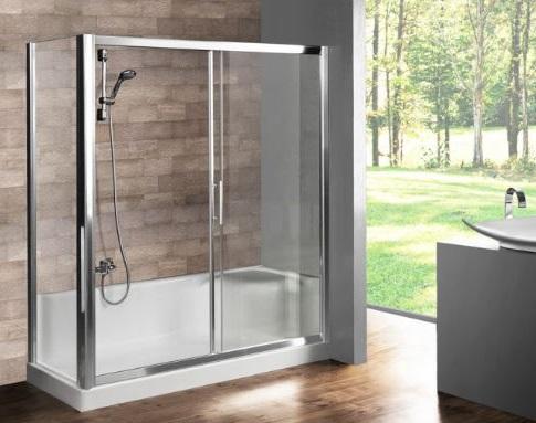 kabina prysznicowa z brodzikiem z integrowanym siedziskiem